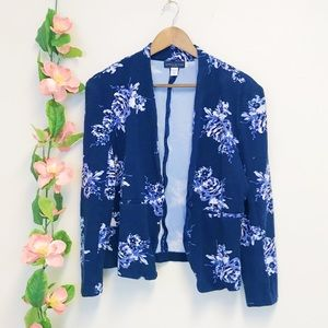 Simply Styled by Sears Blue Floral Blazer
